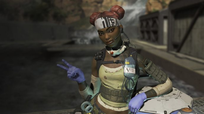 Promotional art of Lifeline, one of the characters in Apex Legends.