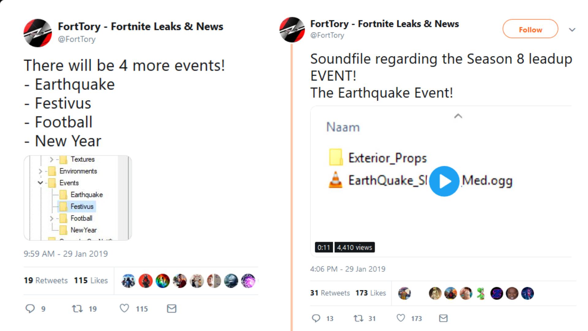 fortnite season 8 event earthquake files leaked - fortnite fire king event date