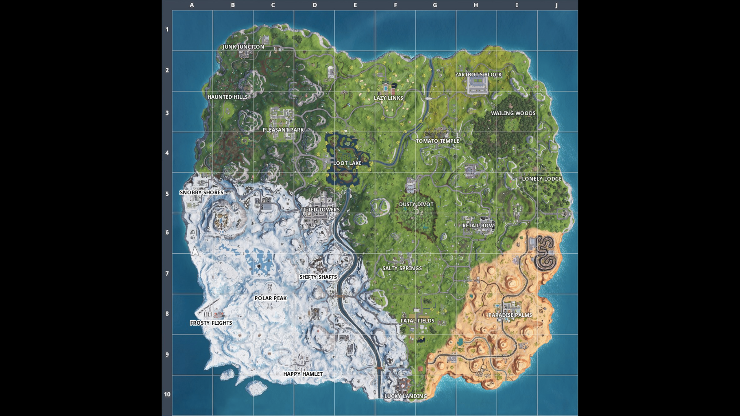 Fortnite Locations Guide V7 40 Fortnite Map Locations