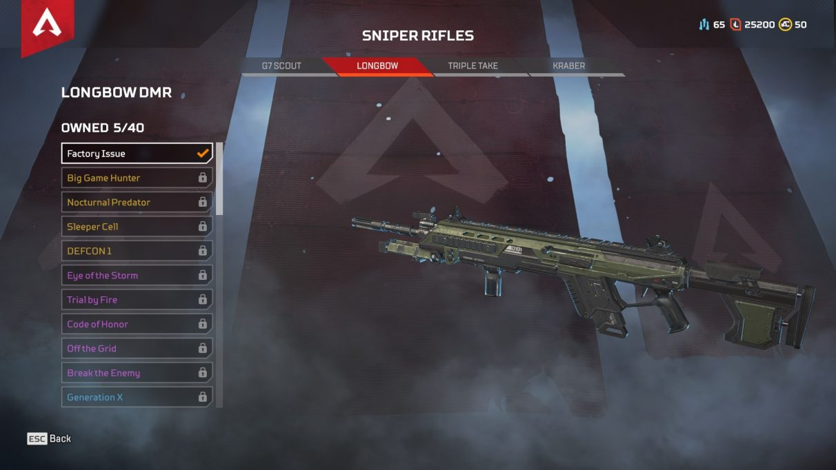 longbow apex legends