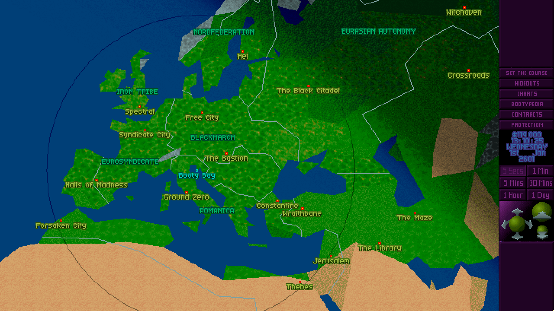 Europe, circa 2600. Your hideout name may vary.