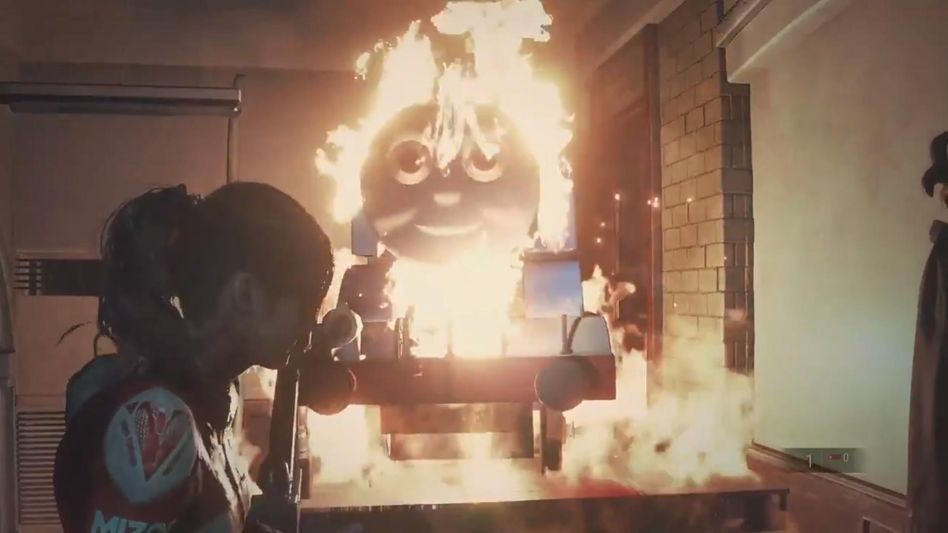 Resident Evil 2 Thomas The Tank Engine mod | Rock Paper Shotgun