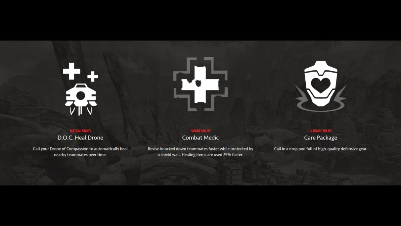 Apex Legends Lifeline abilities