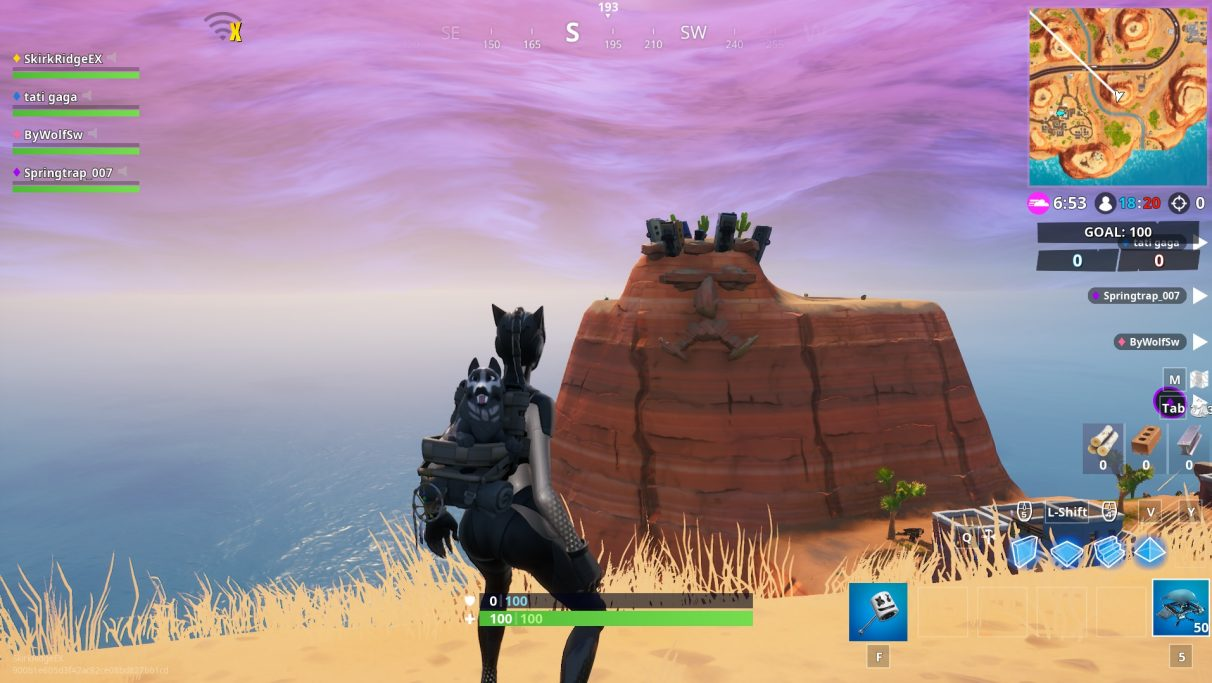 fortnite giant face locations find the desert jungle and snow giant faces - fortnite visit a giant face in the jungle desert and snow