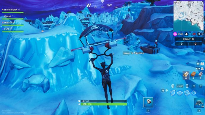 The snow biome giant head near Happy Hamlet.