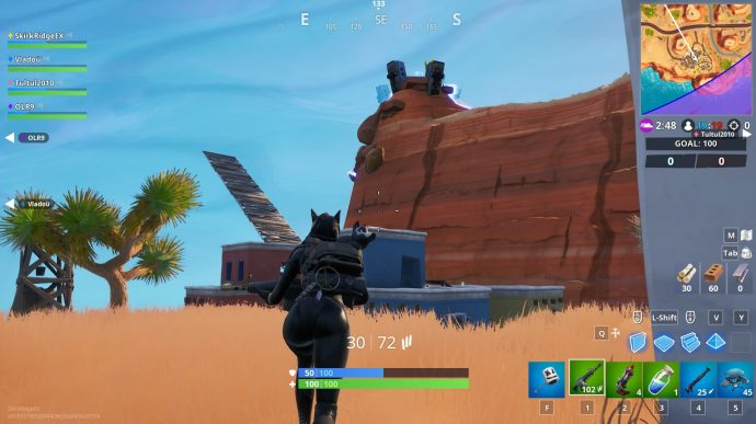The desert biome giant head south of Paradise Palms.