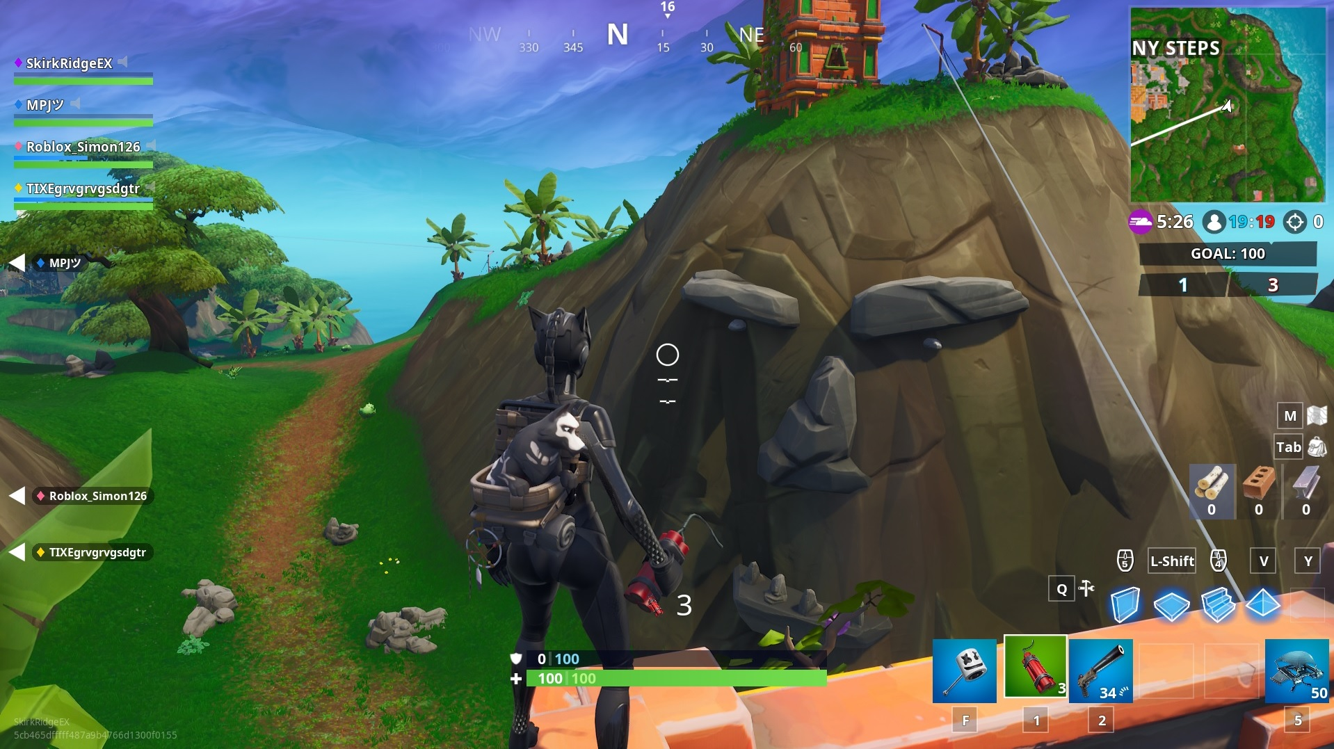 the jungle biome head near sunny steps - giant face locations fortnite