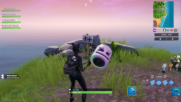 The most eastern point of Fortnite's map is near the abandoned mansion. Player is facing a sign with a E on a compass.