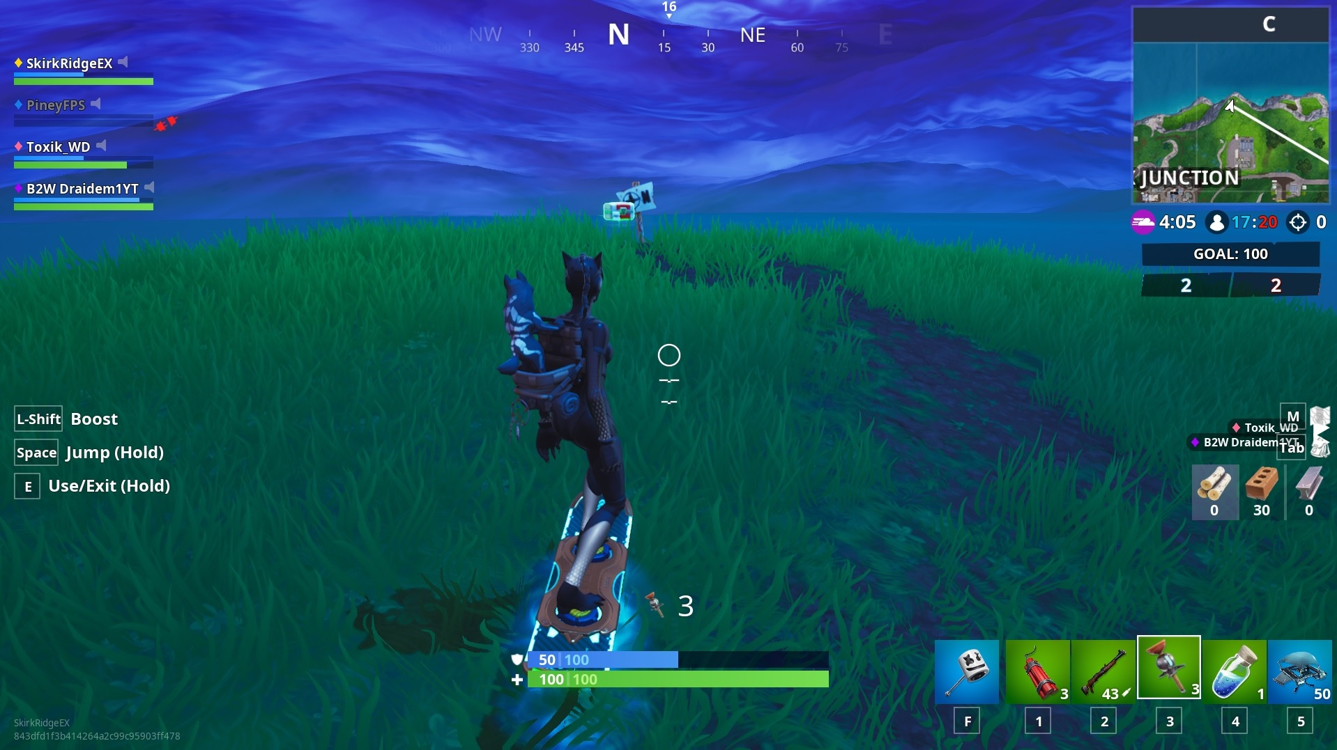 Fortnite furthest north, furthest south, furthest east, and