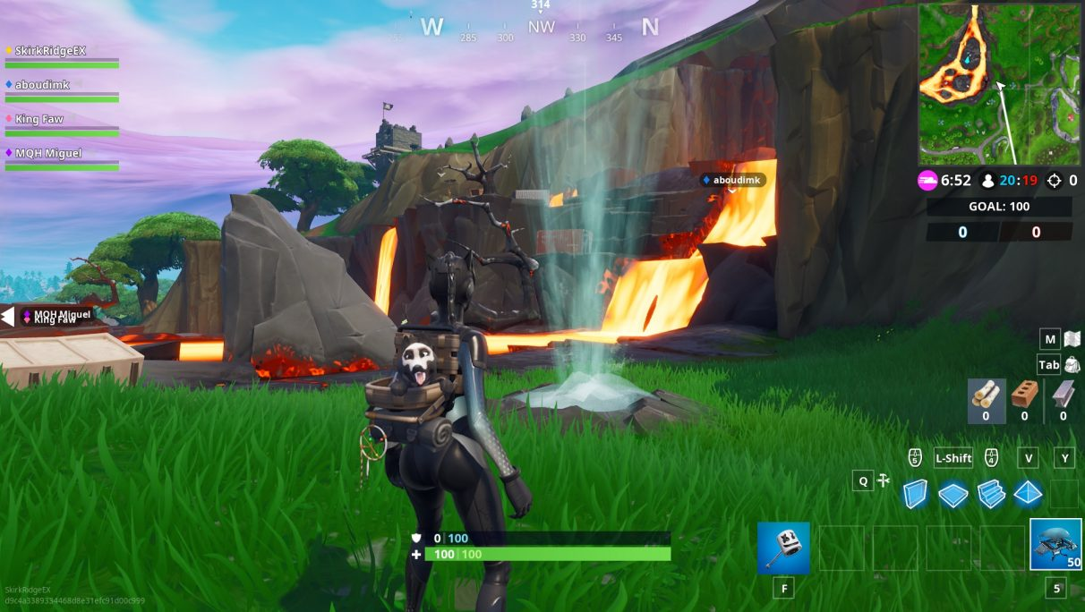 fortnite volcano vent locations how to get some air - 4 volcano vents fortnite