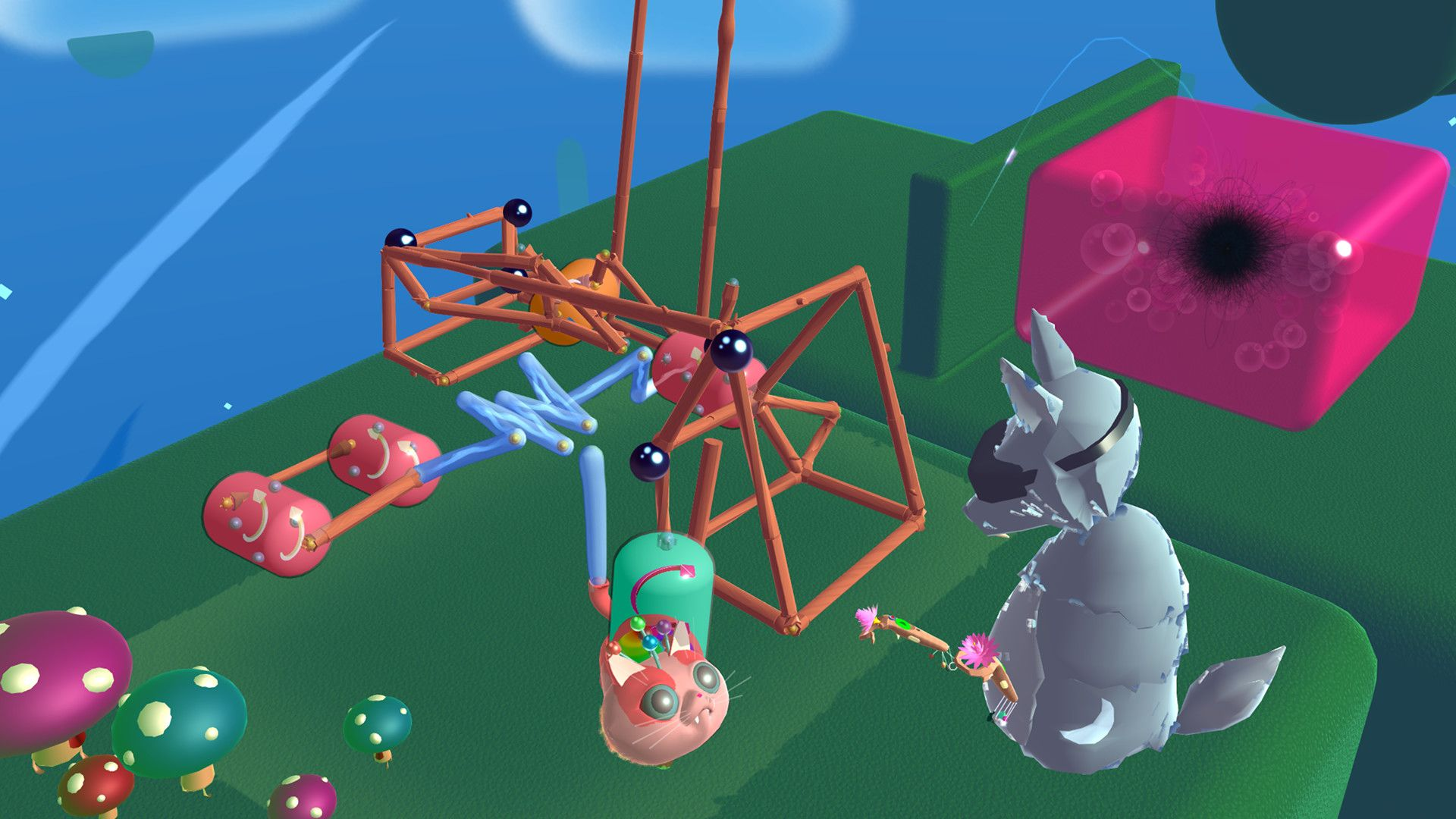 Fantastic Contraption is about making a thing that does another thing and that is fine.