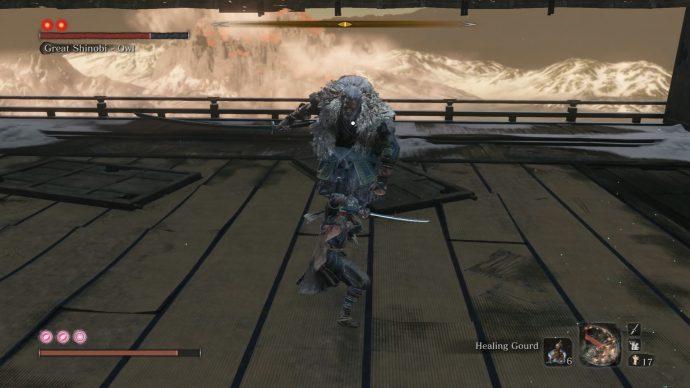 Facing off against the Great Shinobi - Owl.