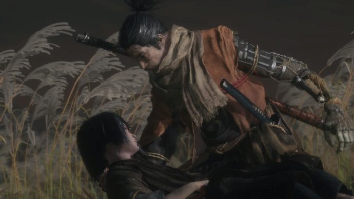 Sekiro is attending to Lord Kuro.