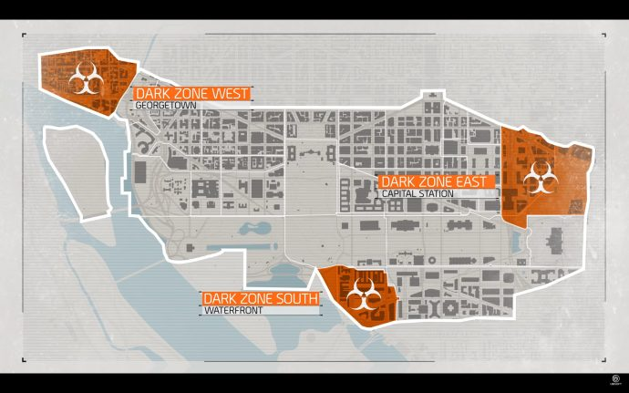 Dark Zones on the map in The Division 2