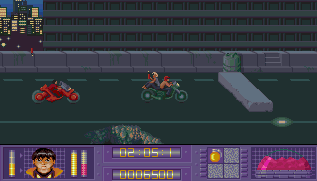 You really ought to sit facing forward when lighting dynamite on a motorbike, but then I'm old fashioned.