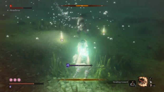 A Headless that's underwater and thus even more terrifying.