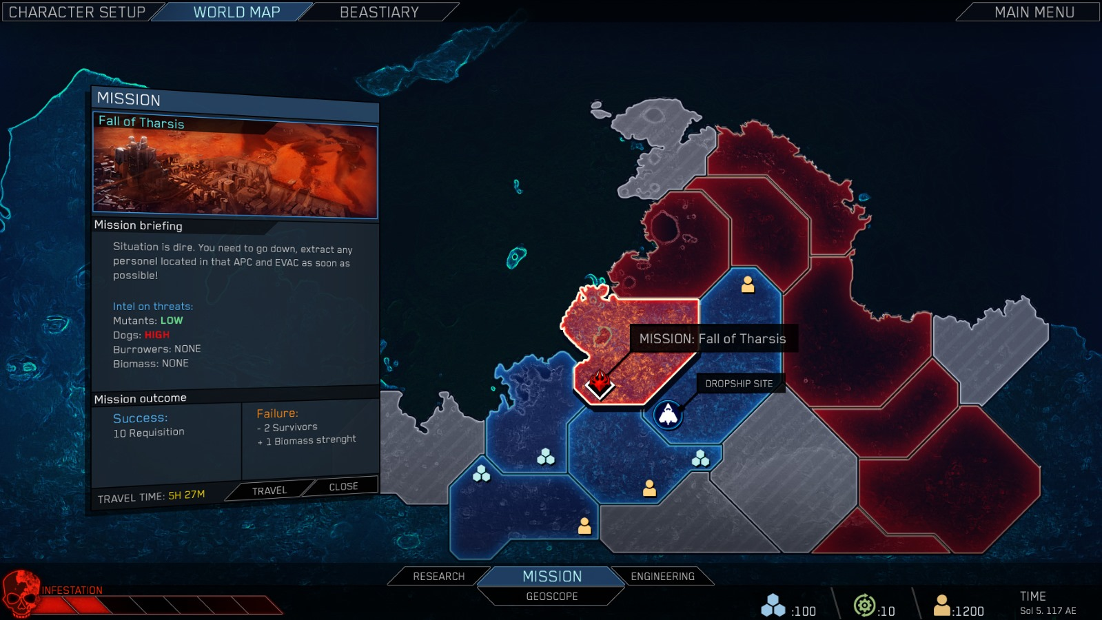 The new campaign map for The Red Solstice 2