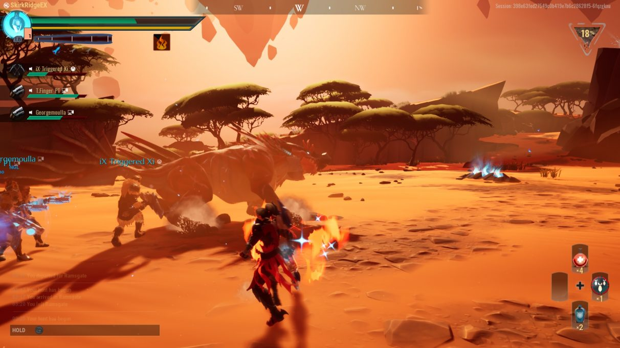 The Embermane has been toppled after a failed charge attack.