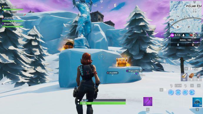 Dancing in between the Ice Sculptures,