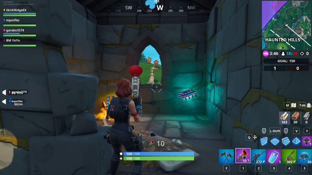 Fortbyte location in Haunted Hills - north-eastern crypt in the main part of Haunted Hills.