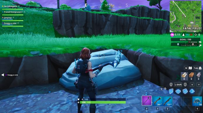The tip of the knife is where the treasure is. The knife and fork are visible from the mini-map and are close to Fatal Fields.