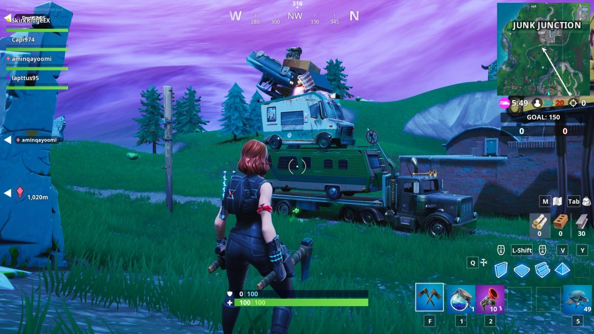 On top of this pile of cars is the Battle Star.