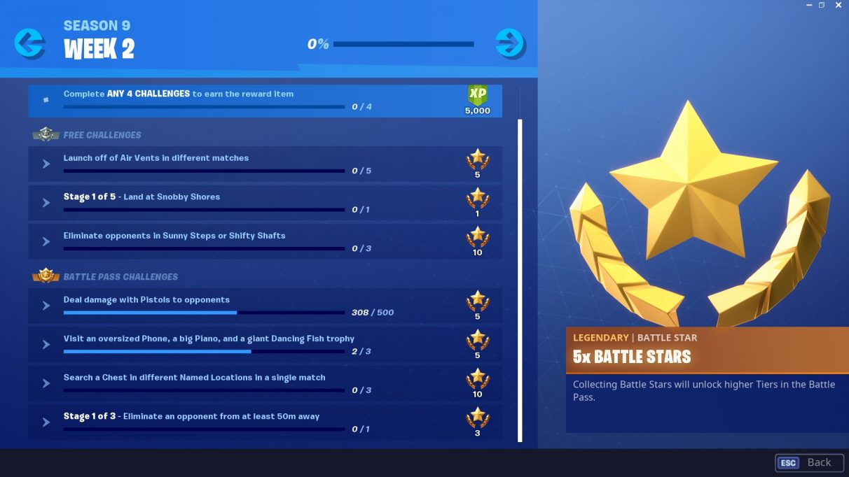 fortnite week 2 challenges wick s bounty fortnite season 9 challenges tips - collect infinity stones fortnite map
