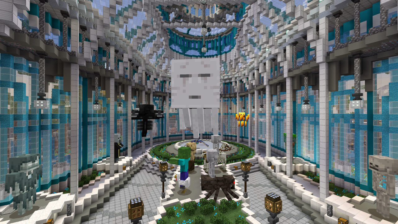 Minecraft's free theme park map celebrates its history
