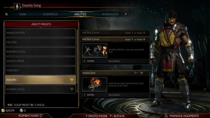 One of Scorpion's two presets that are tournament legal.