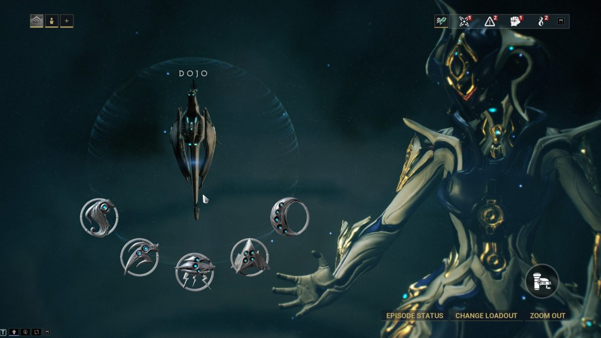The available dojos in Warframe.