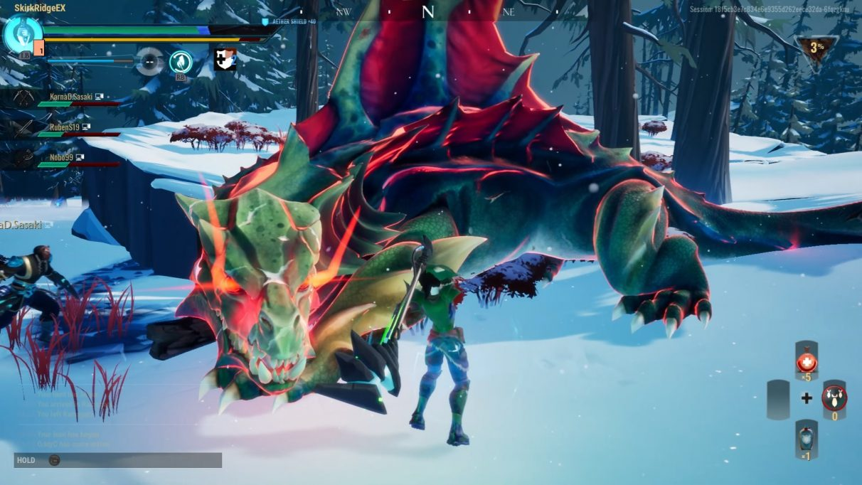 The Drask is now enraged and glowing a little red.