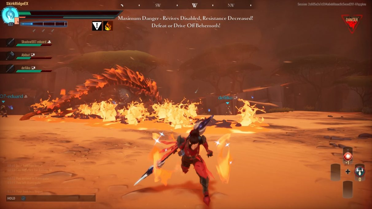 Hellion using lava to prevent allies from getting close.