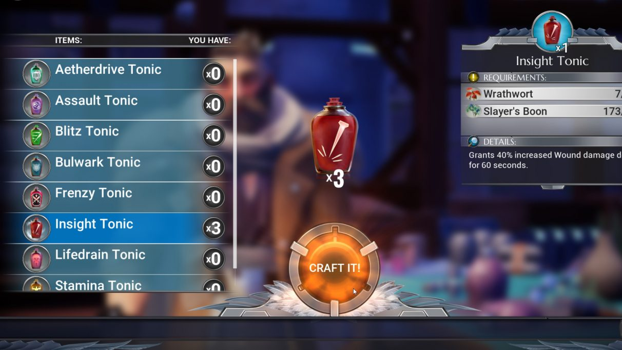 Dauntless crafting guide – how to craft grenades, potions, and