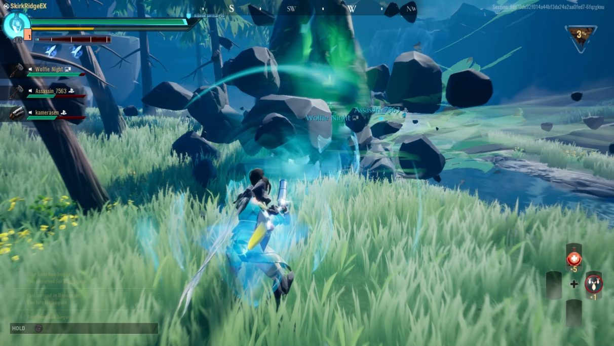 Skarn is spinning as the player aims the War Pike to use its special attack.