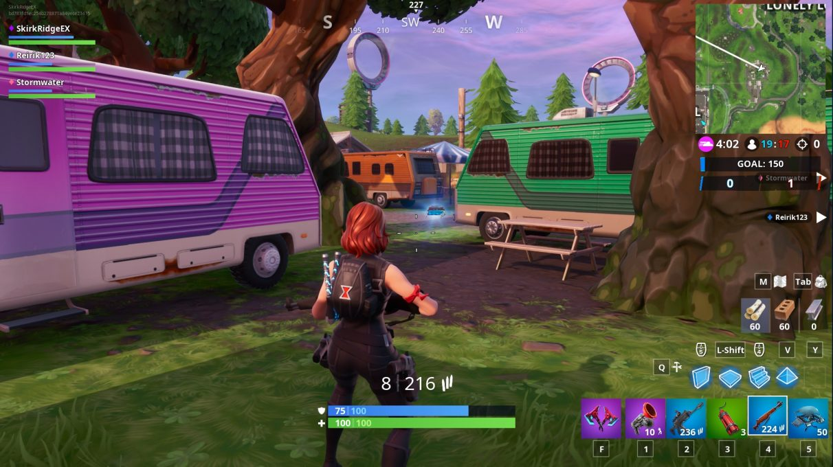 The middle of the RV park in Fortnite.