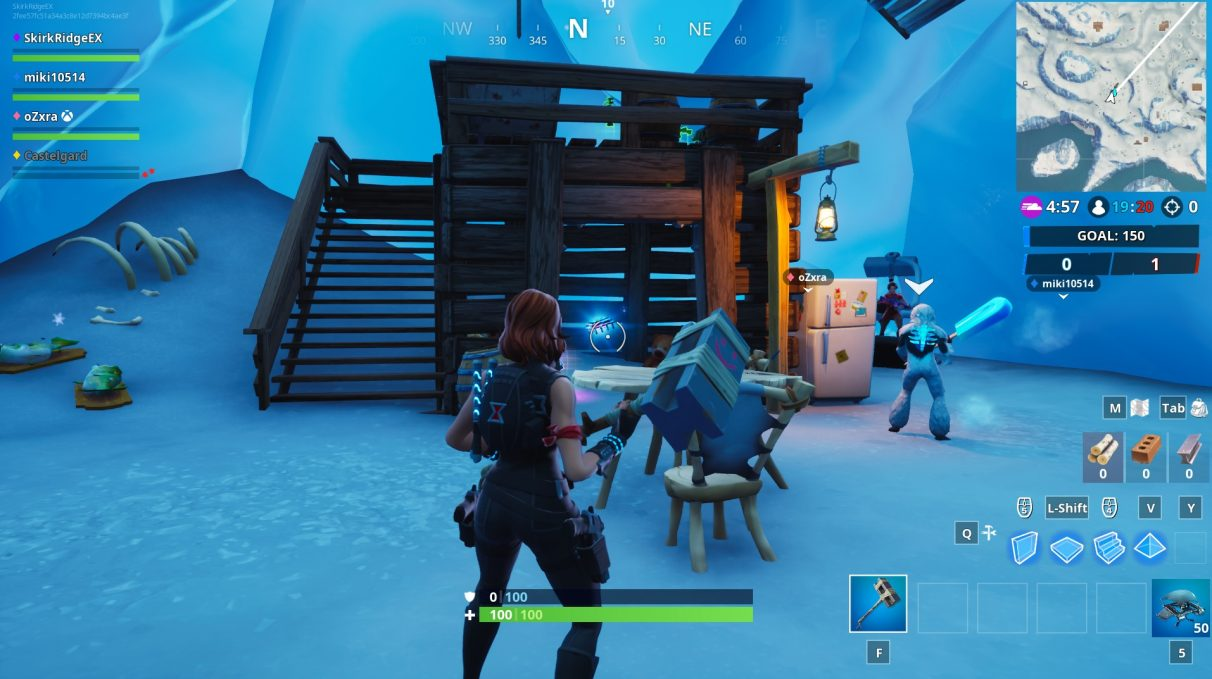 A small shack inside of Trog's ice cave in Fortnite.