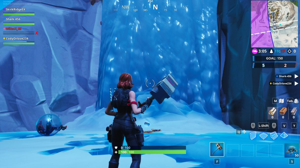 The middle of the waterfall has the Fortbyte you seek.