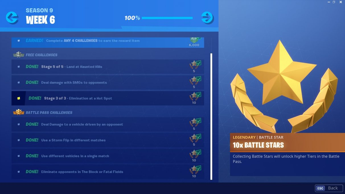 Fortnite Week 6 Challenges Horde Rush Fortnite Season 9