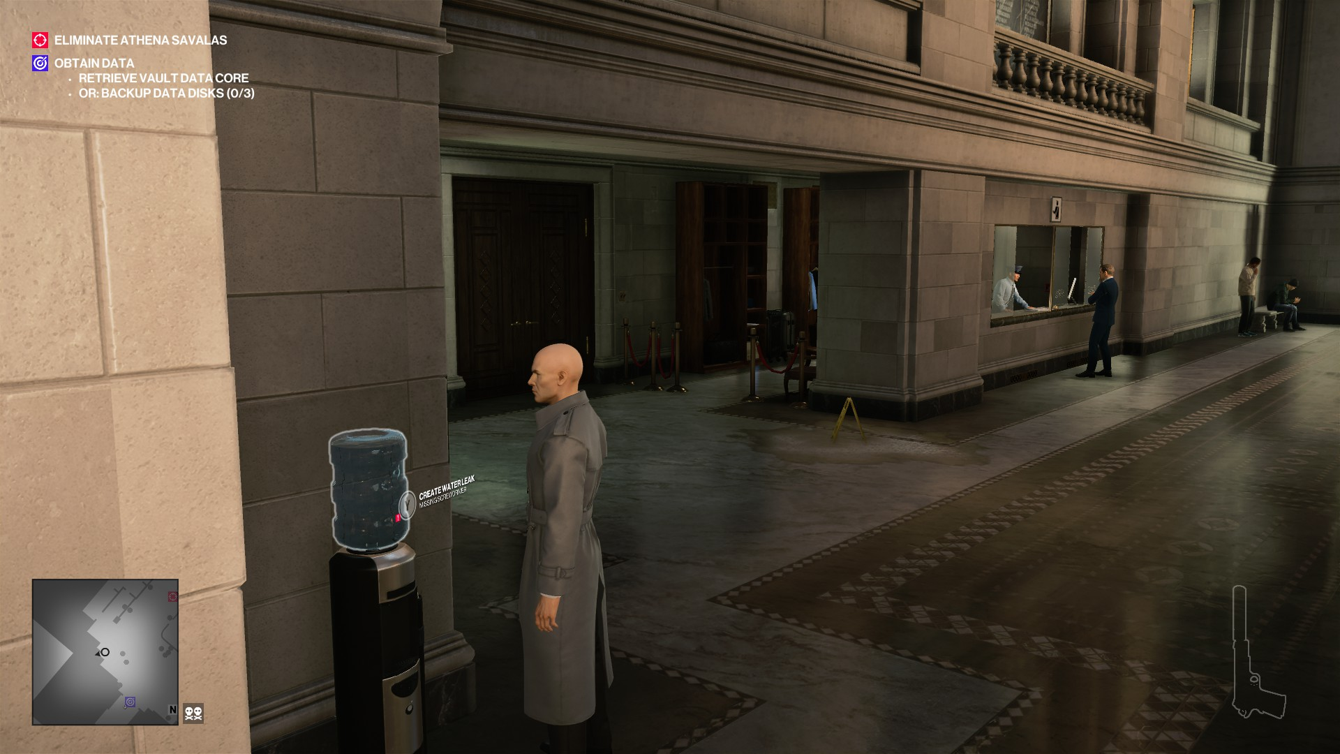 I queued for 45 minutes in the new Hitman 2 bank level