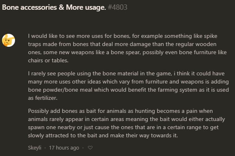 Hide your bones.