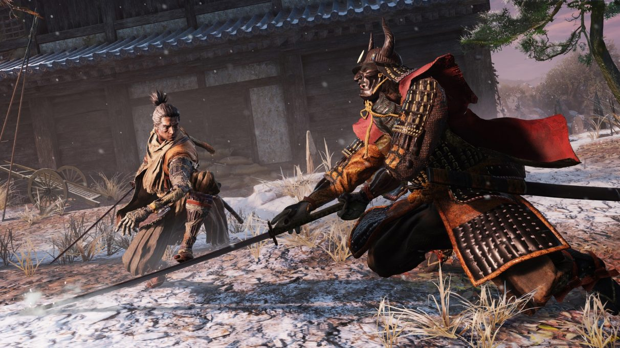 A bit of a fight in Sekiro: Shadows Die Twice