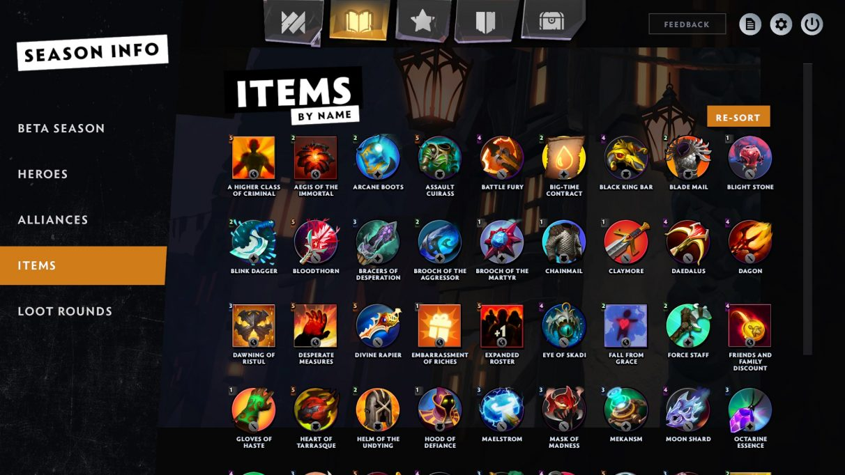 Dota Underlords best items