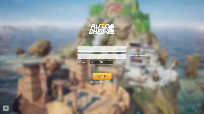 Auto Chess Login Screen