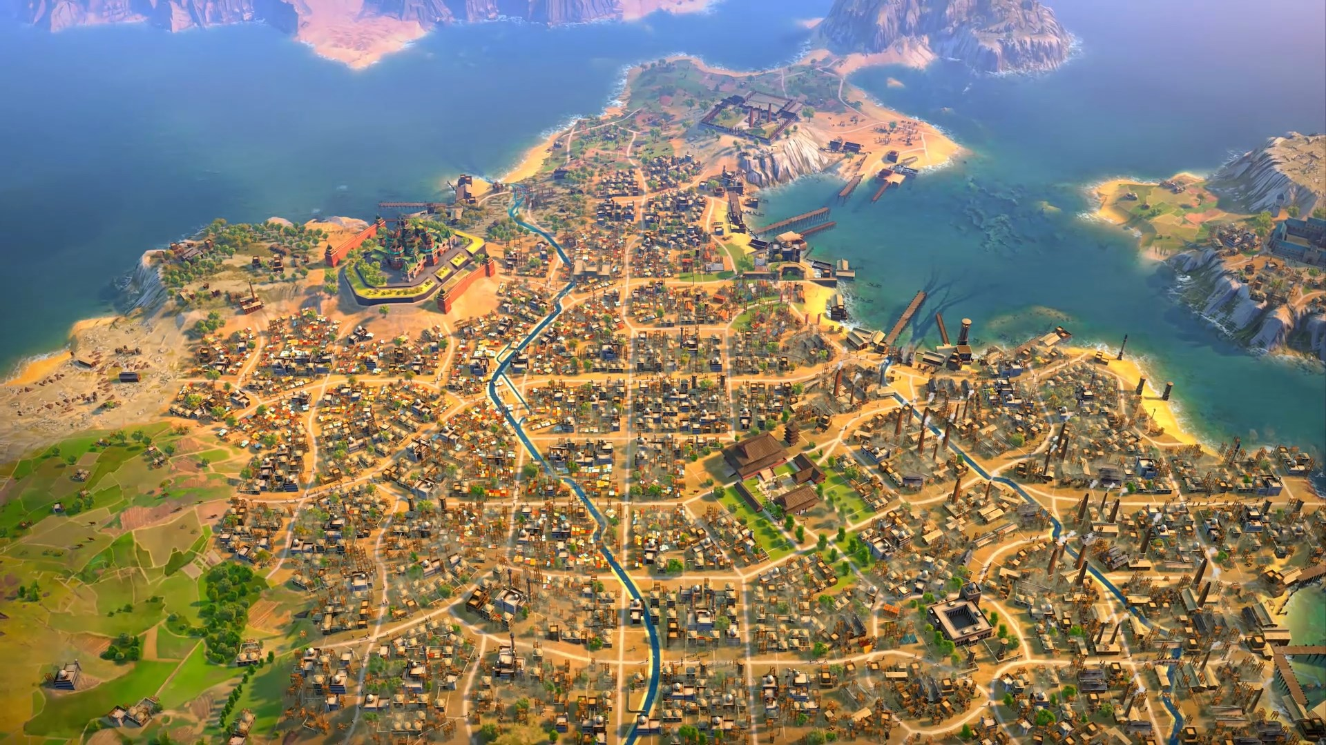 Humankind gameplay details - cities can sprawl across whole territories in Humankind