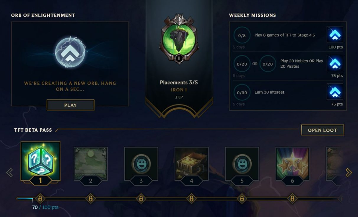 TFT beta pass weekly missions