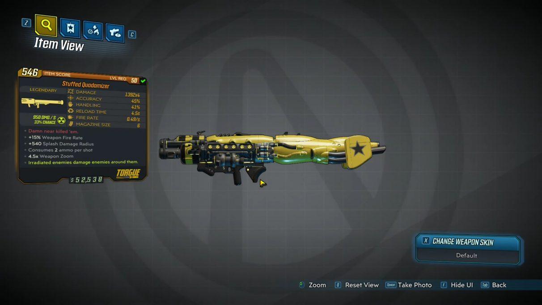 Borderlands 3 Legendary Heavy Weapons - Stuffed Quadomizer