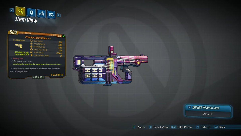 Borderlands 3 Legendary Pistols - Baby Maker