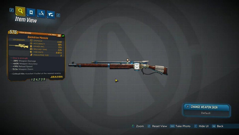 Borderlands 3 Legendary Snipers - Monocle