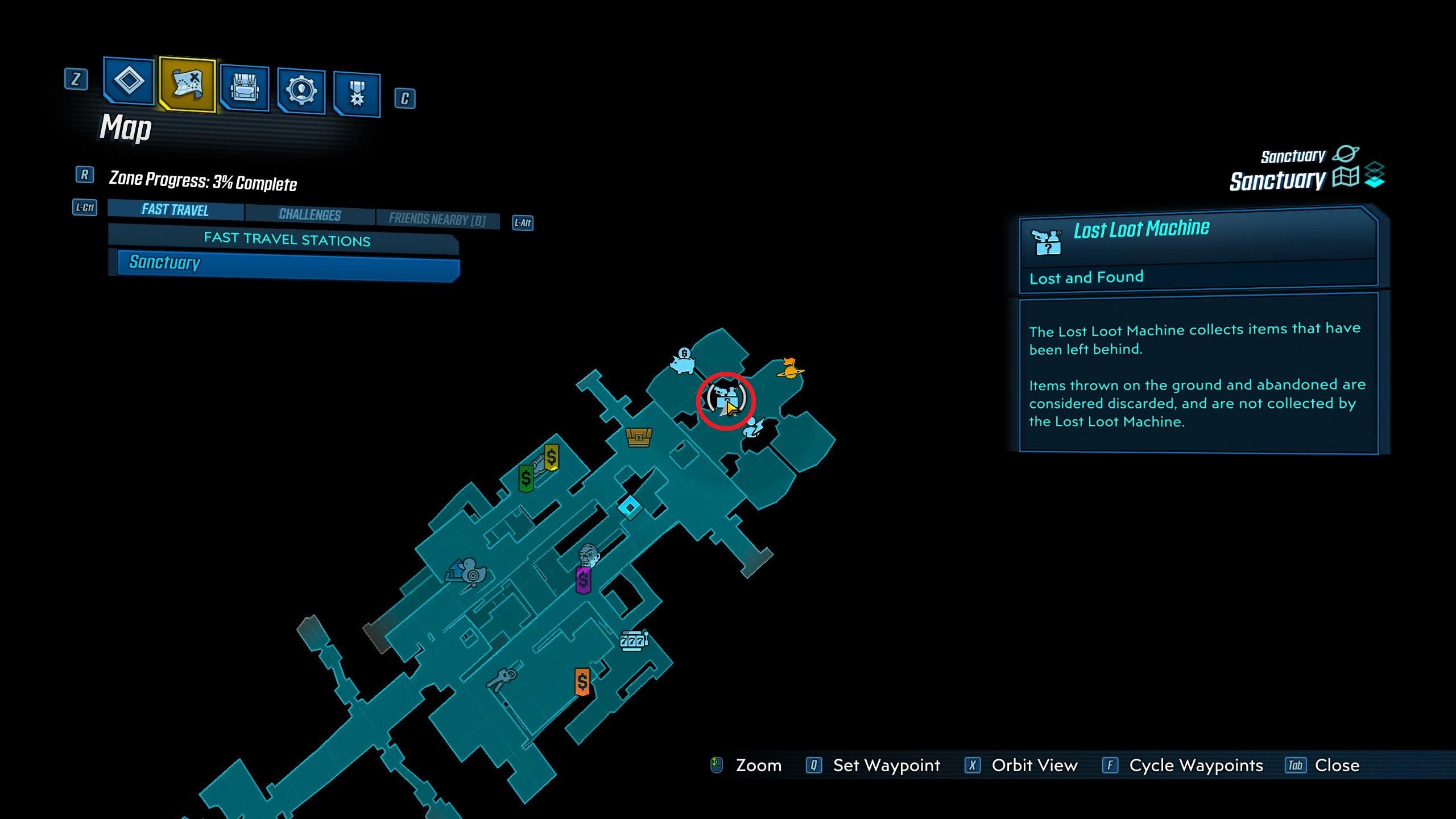 Borderlands 3 Lost Loot Machine location