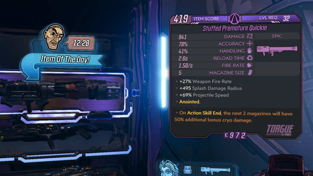 Borderlands 3 anointed weapons